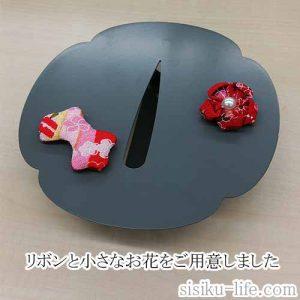 鉄製壁掛け一輪ざしに磁石でくっつくかわいいリボン
